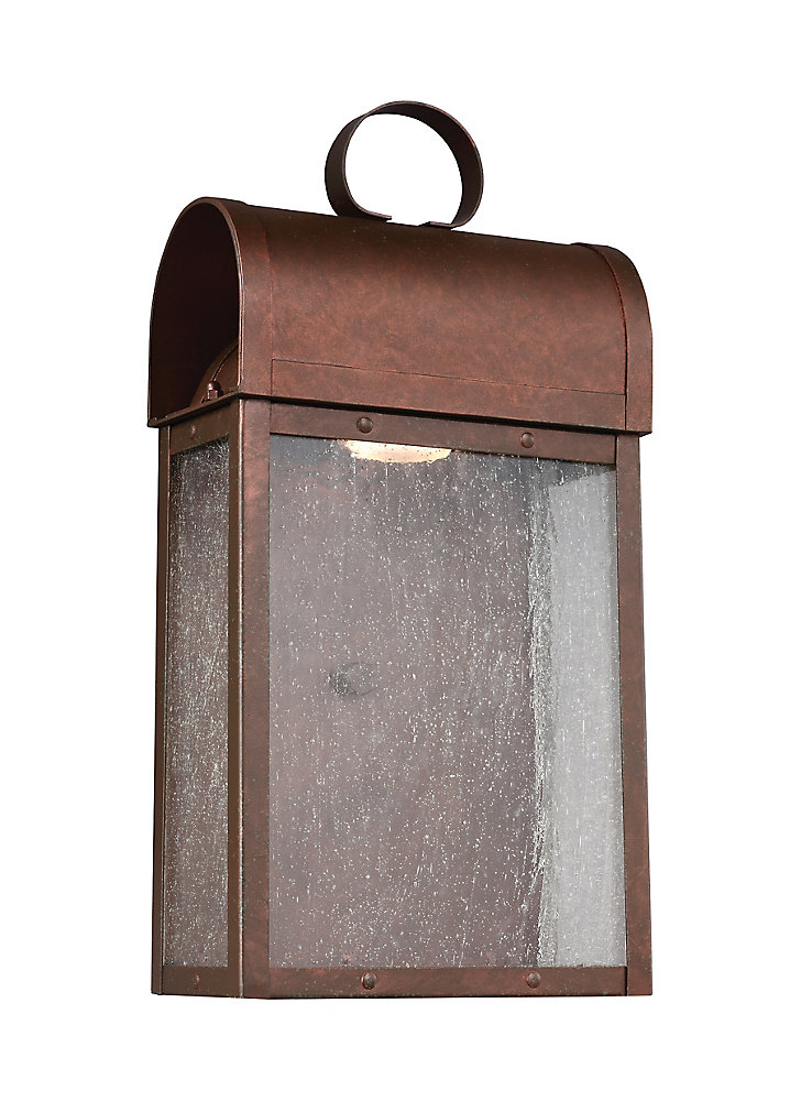 Lumière Conroe fixée au mur à une ampoule avec abat-jour clair, finition de spécialité - 7 inches