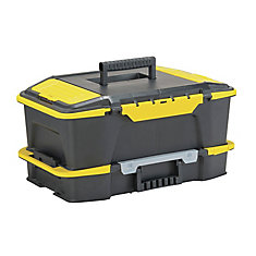 Click 'N Connect 20-inch 2-in-1 Deep 1-Touch Latch Tool Box and Organizer