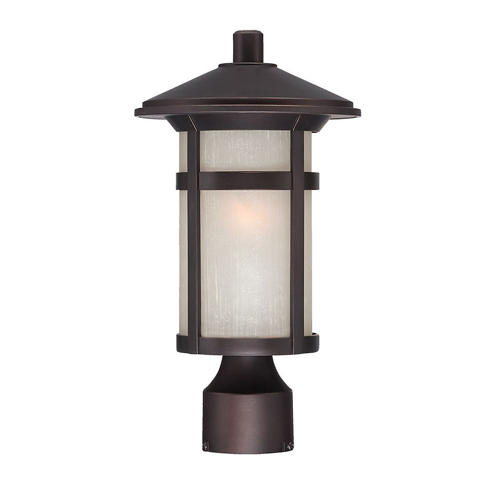 Phoenix 1-Light Post-Mounted Lantern Head in Architectural Bronze