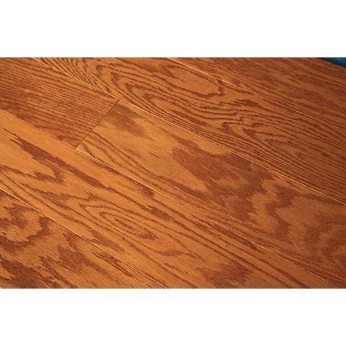 GUOYA Revêt. sol bois franc ingénierie, chêne rouge doré, 1/2po x 5po x long. var., 26,25pi2/bte