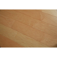 Revêt. sol bois franc ingénierie, érable franc naturel, 1/2po x 5po x long. var., 26,25pi2/bte