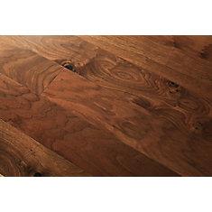 Revêt. sol bois franc ingénierie, noyer naturel, 1/2po x 5po x long. var., 26,25pi2/bte