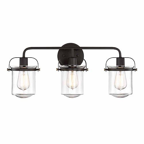 Designers Fountain Incandescent 3-light Bath Light, Rubbed Bronze