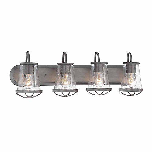 Designers Fountain Incandescent 4-light Bath Light,Weathered Iron