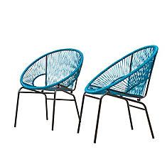 Sonora - Ensemble de 2 chaises de patio (Sarcelle)