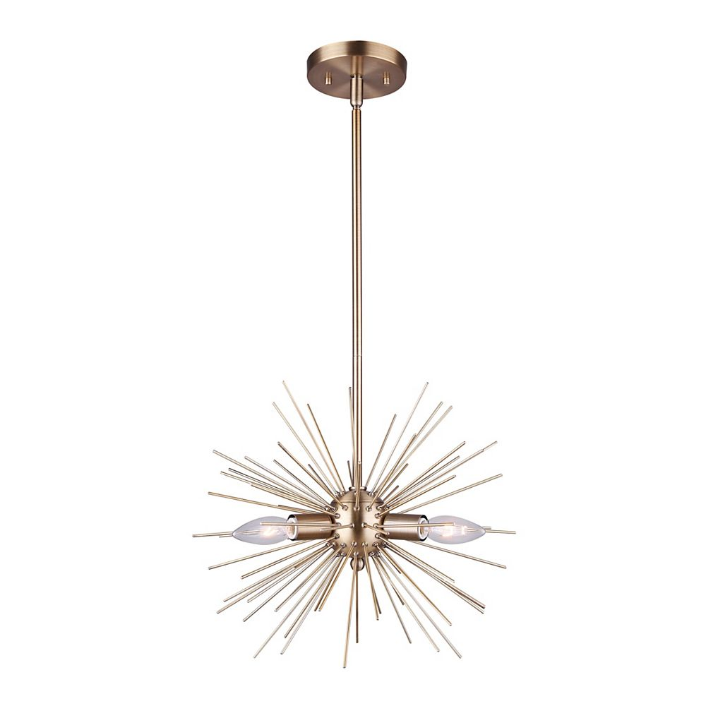 Canarm Orla 3-Light Chandelier in Gold