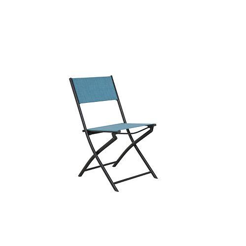 Hampton Bay Steel Sling Folding Patio Chair in Teal