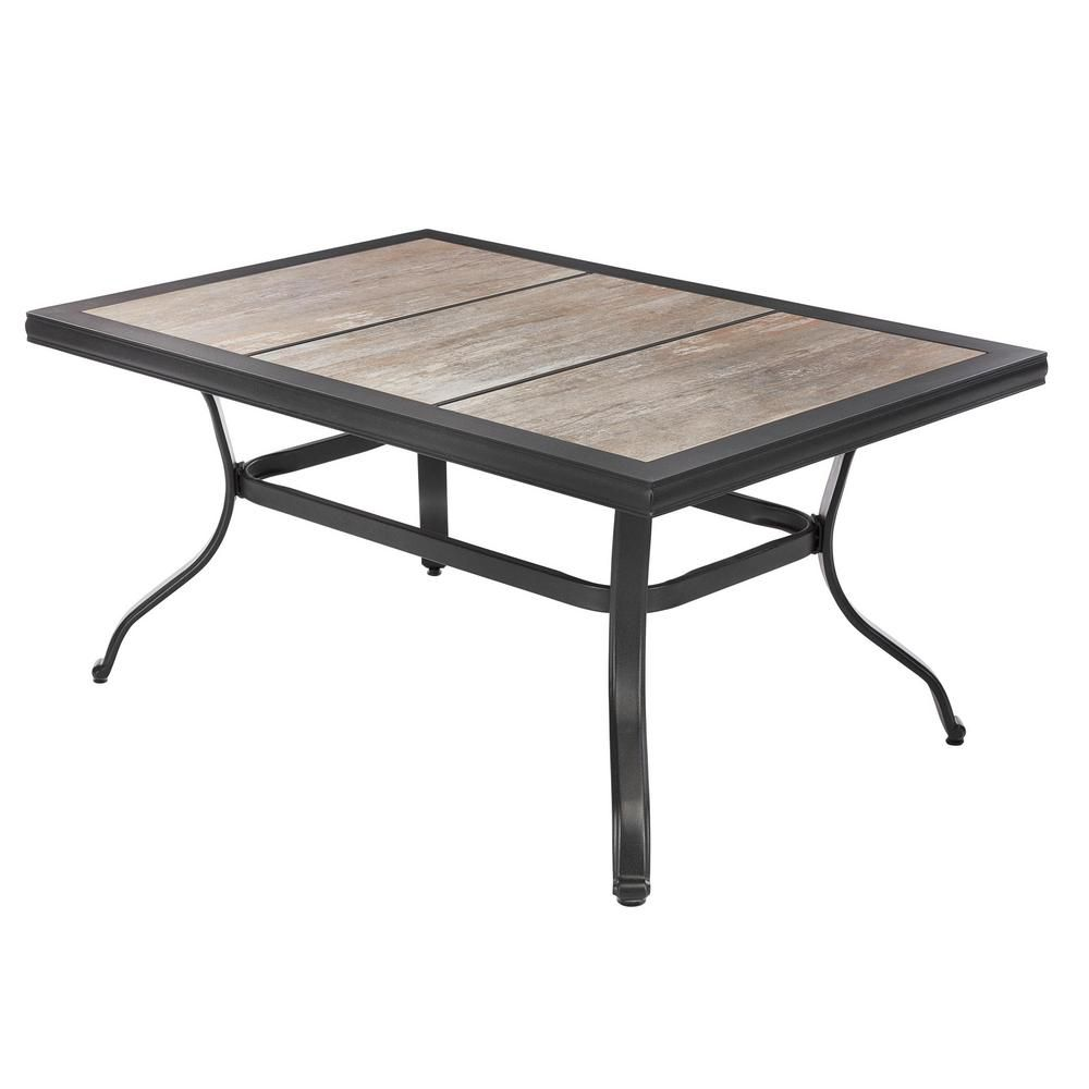 Patio Coffee Table With Tile Top