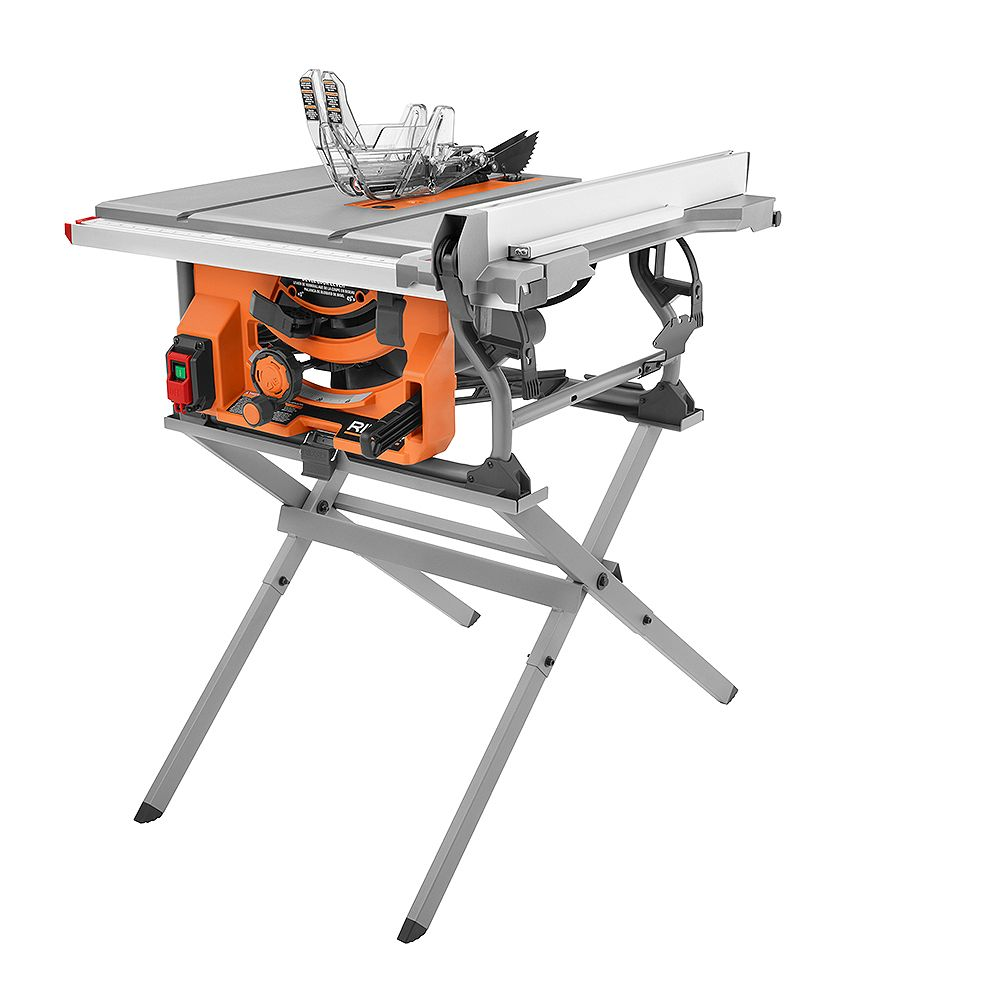 RIDGID 15 Amp 10 -inch Table Saw with Folding Stand