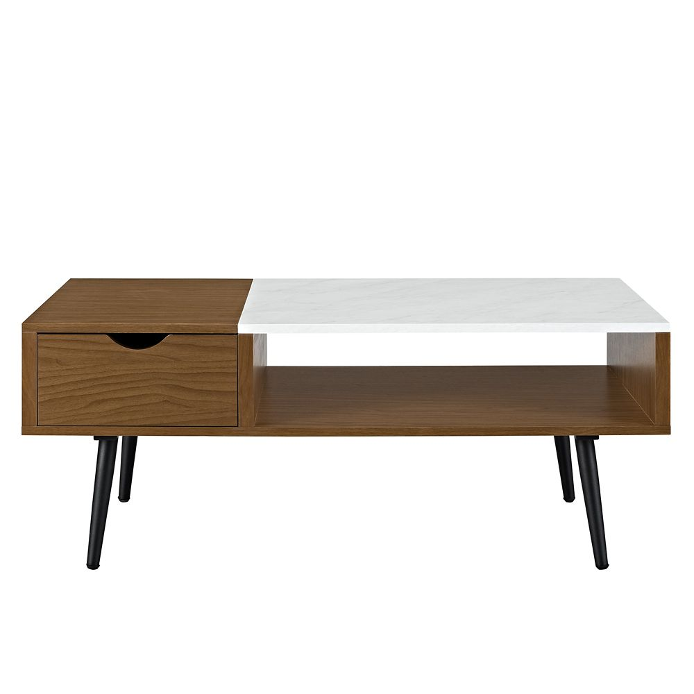 Faux Marble Coffee Table Canada: Welwick Designs Mid Century Modern Faux Marble Coffee