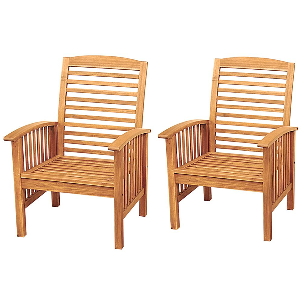Acacia Wood Outdoor Patio Chairs