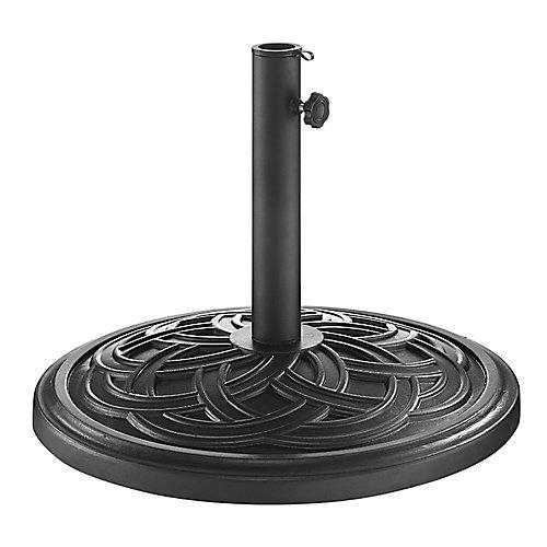 Base de parasol ronde à motifs de cercles - Noir