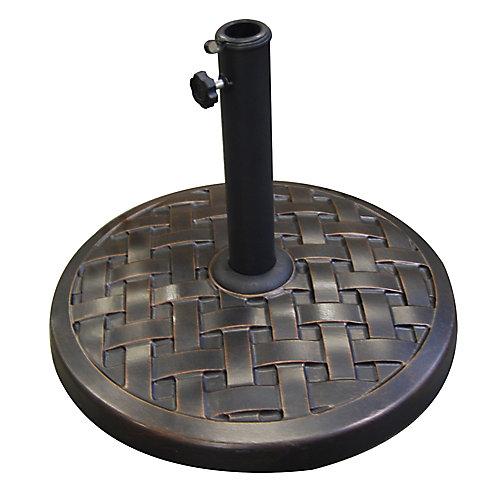 Base de parasol ronde - Bronze vieilli