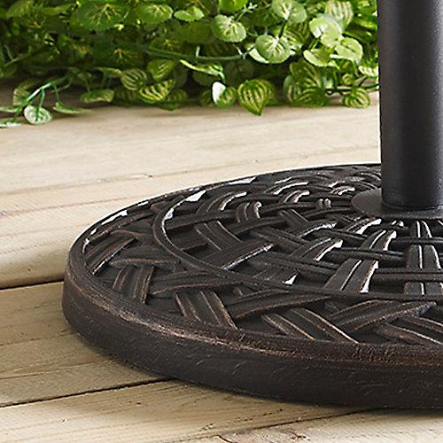 Base de parasol ronde à motifs de croix - Bronze vieilli