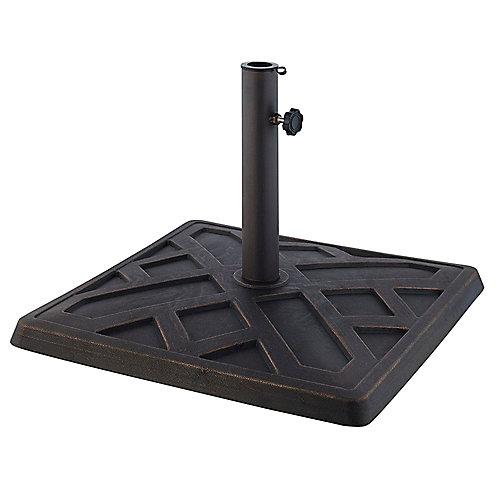 Base de parasol carrée - Bronze vieilli