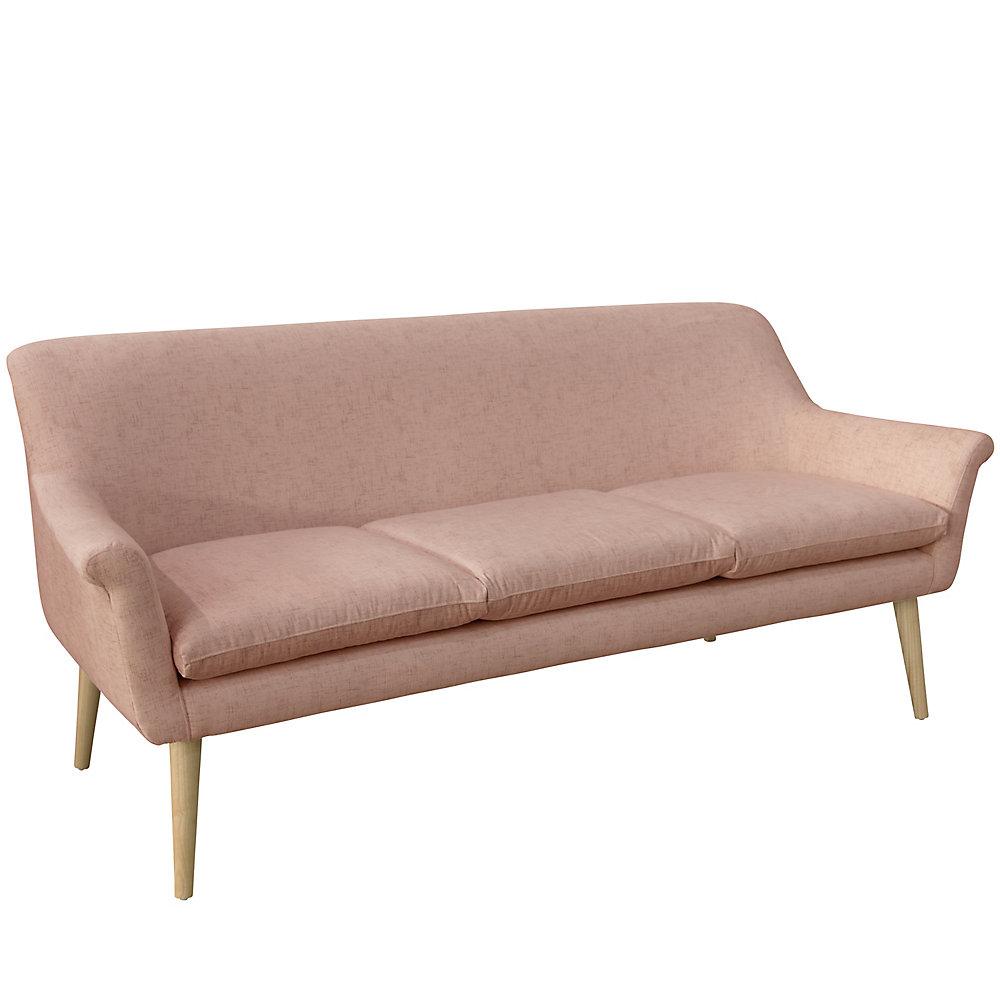 Skyline Furniture Modern Sofa in Click Blush | The Home Depot Canada
