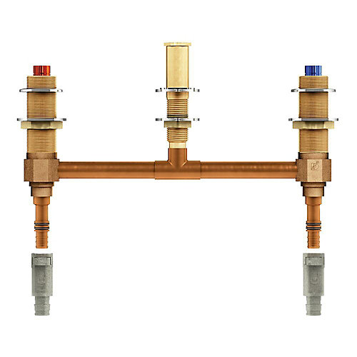 2-Handle 3-Hole Roman Tub 10-inch Center Rough-In Valve - 1/2-inch Wirsbo PEX Connection