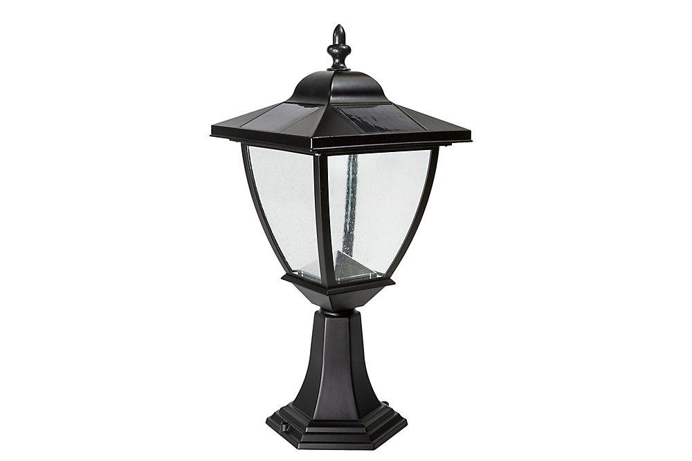 Lampe Solaire Elegante En Aluminium Noir