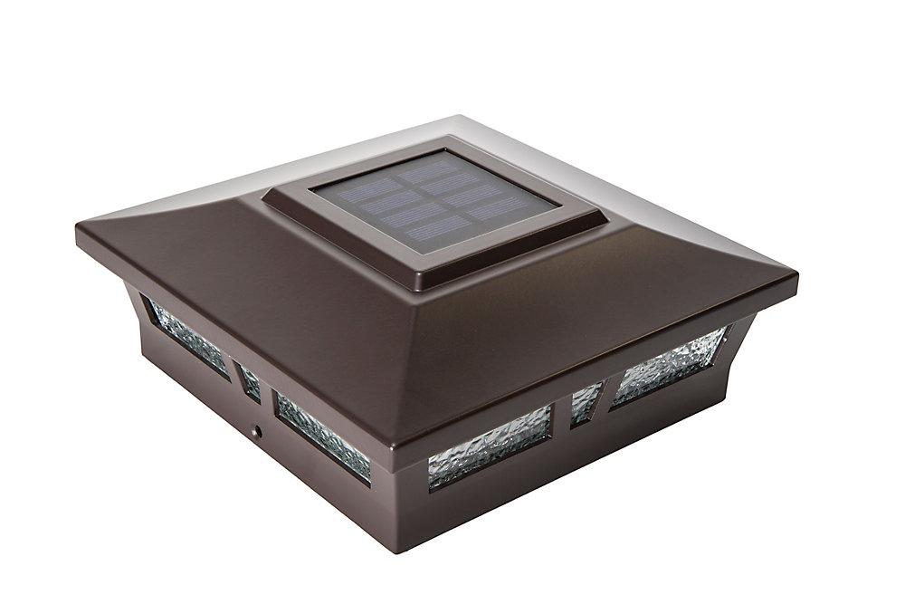 Capuchon De Poteau Solaire Oxford 6X6 Aluminium Brun