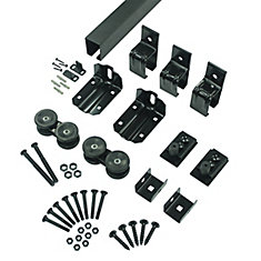 Single Box Track Hardware Kit, Sliding Barn Door system