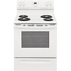 30-inch 5.3 cu. ft. Freestanding Electric Coil Range in White