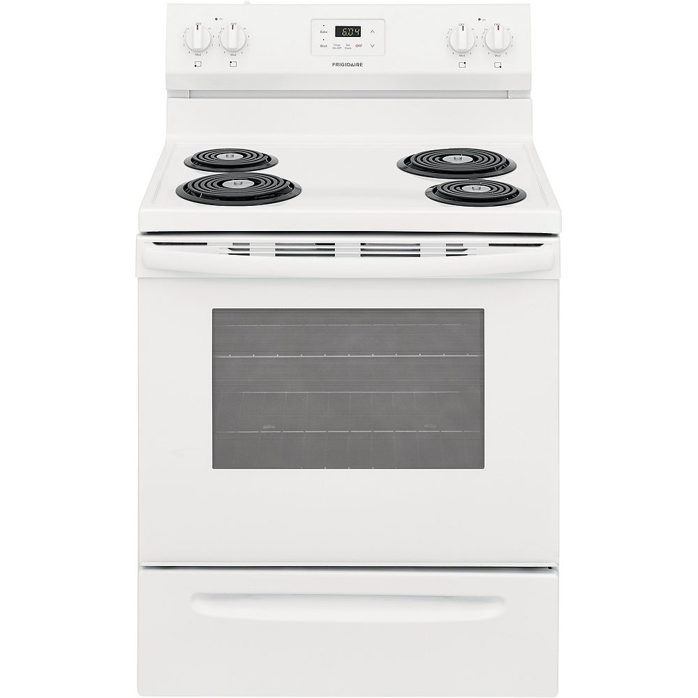Frigidaire 30-inch 5.3 cu. ft. Freestanding Electric Coil Range in White