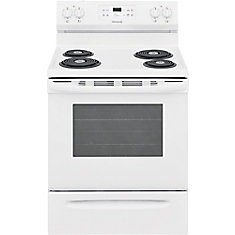 30-inch 5.3 cu. ft. Freestanding Electric Coil Range with Self Clean Oven in White