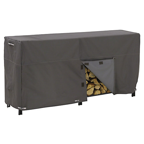 Ravenna Log Rack Cover - Outdoor Cover with Water Resistant Fabric, 8-ft.