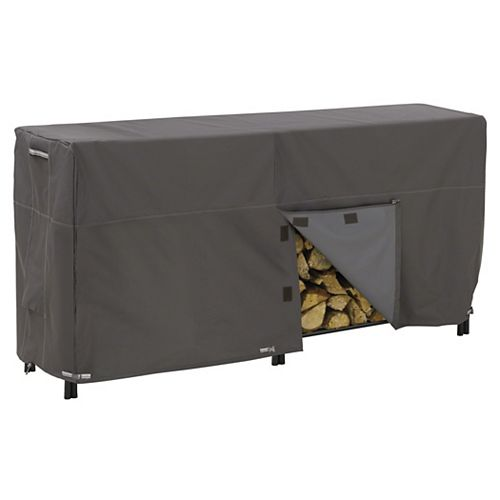 Classic Accessories Ravenna Log Rack Cover - Outdoor Cover with Water Resistant Fabric, 8-ft.