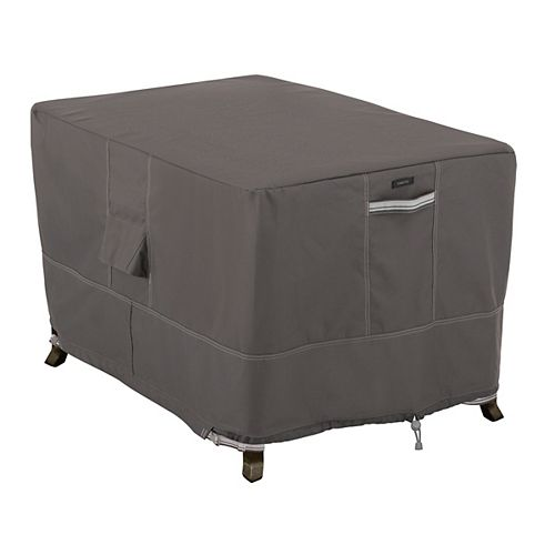 Classic Accessories Ravenna 40 inch Rectangular Fire Pit Table Cover - Outdoor Cover with Water Resistant Fabric