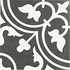 Marrue Midelt Black 9-3/4-inch x 9-3/4-inch Porcelain Floor & Wall Tile (10.76 sq. ft./ case)