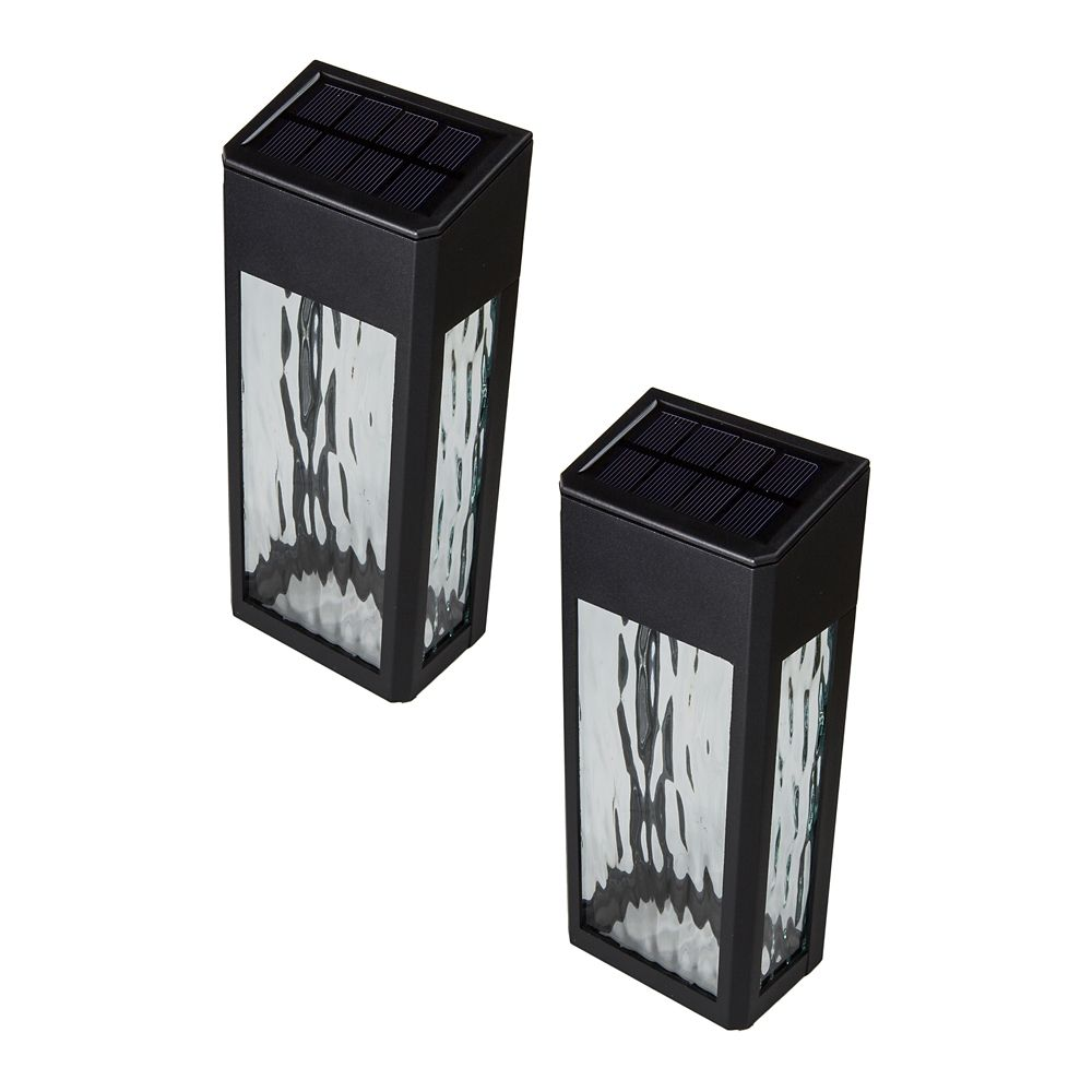 Black Aluminum Lancaster Deck & Wall Light - 2 Pk