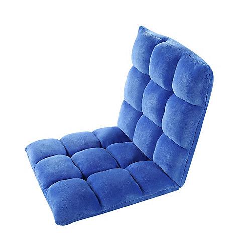 Adjustable Blue Microplush Gaming Floor Chair