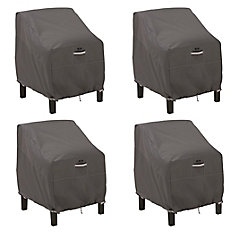 Ravenna Patio Lounge Chair Cover - Outdoor Furniture Cover with Water Resistant Fabric, 4-Pack