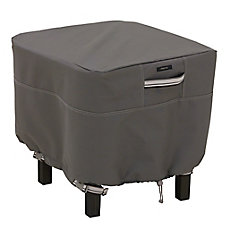 Ravenna Square Ottoman/Table Cover - Outdoor Furniture Cover with Water Resistant Fabric, Small
