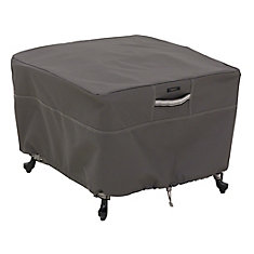 Ravenna Square Ottoman/Table Cover - Outdoor Furniture Cover with Water Resistant Fabric, Large