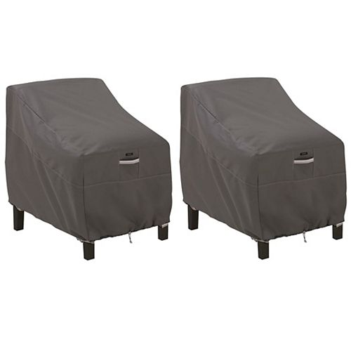 Classic Accessories Ravenna Deep Seated Lounge Chair Cover - Outdoor Furniture Cover with Water Resistant Fabric, 2-Pack
