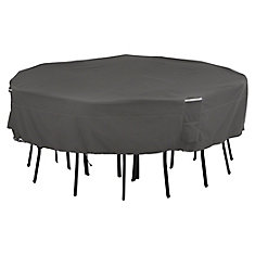 Ravenna Square Table & Chair Set Cover - Outdoor Cover with Water Resistant Fabric, Medium-Large