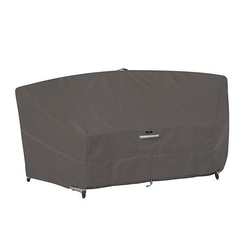 Classic Accessories Ravenna Curved Modular Sectional Sofa Cover - Outdoor Furniture Cover with Water Resistant Fabric