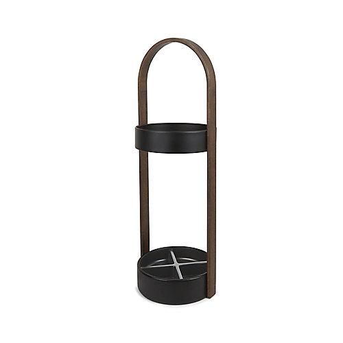 Hub Umbrella Stand Black/Walnut