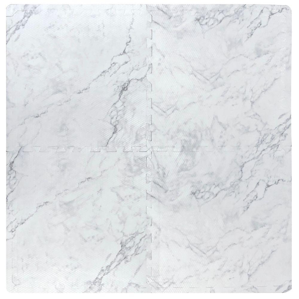 TrafficMaster Faux Marble 24-inch x 24-inch Interlocking Foam Tiles (4-Pack)