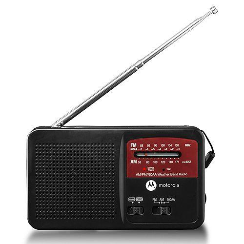 Motorola ATMOS Rechargeable AM/FM Weather Radio with Flashlight