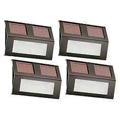 Lampes à gradins solaires en bronze (paquet de 4)