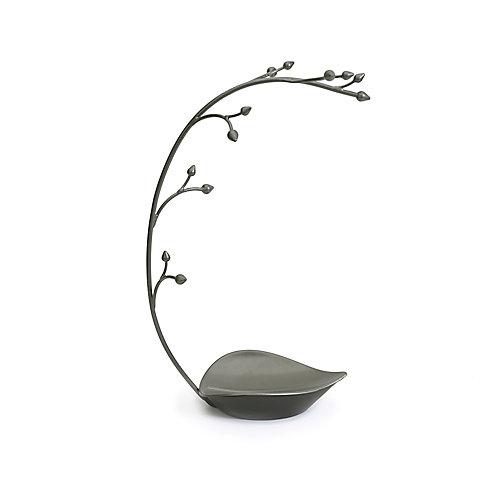 Orchid Jewelry Stand. Arbre À Bijoux Orchid. Métal Gris Anthracite. Dimension 22.9X14X38.1Cm.