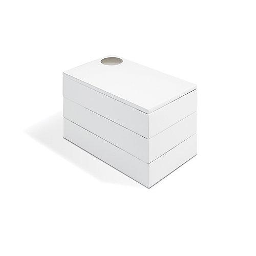 Spindle Jewelry Box. Boîte À Bijoux Spindle. En Bois Laqué Blanc. Dimension 19X12.1X12.7Cm.