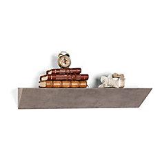 Contempo Gray Faux Stone MDF Triangular Ledge Floating Wall Shelf