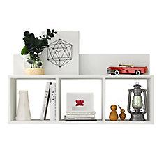 Porto White Laminate MDF Triple Cubbie Shelf