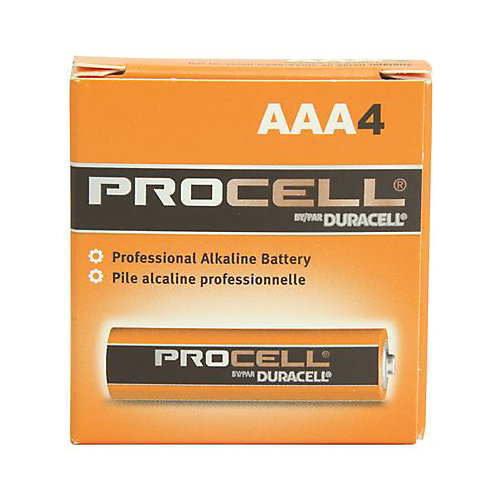 Procell Alkaline Battery, AAA Cell, 4 Pack