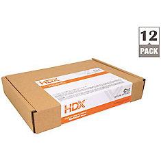 Hdx Alkaline Battery, C Cell, 12 Pack