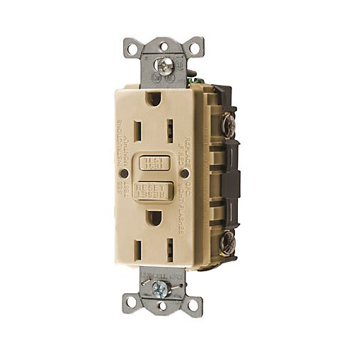 Hubbell Wiring 15 Amp 125-Volt Nema 5-15r Hubbell Autoguard Commercial Standard Gfci Receptacle